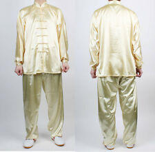 Wushu TaiChi Uniform Yellow China Tai chi Chuan KungFu uniforms Chinese Kung Fu