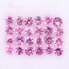 BEAUTIFUL LOT! 1.04CT/24p ROUND 2.0mm TOP DIAMOND CUT NATURAL PINK SAPPHIRE #17