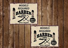 Barber Shop Sign, Metal Sign, Barber Shop Signs, Vintage Style, Barber Shop, 518