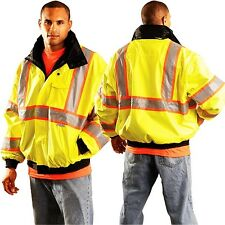Occunomix LUX-TJBJ2 Hi-Visibility Lime Green Two-Tone Class 3 Bomber Jacket