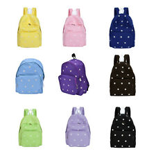Fashion Girls Canvas Backpacks Floral Daisy School Bag Rucksack Large Capacity