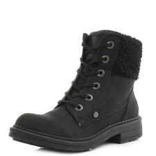 Womens Blowfish Fader Black Texas Black Cuff Military Ankle Boots Size