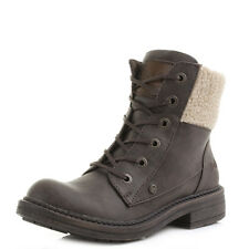 Womens Blowfish Fader Brown Faux Shearling Military Ankle Boots UK Size