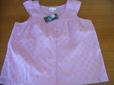 Girls Pumpkin Patch pretty scoop neck anglaise top  Size 11 & 12  BNWT