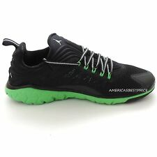 NIKE NEW MENS JORDAN FLIGHT FLEX TRAINER SHOE SNEAKER,BLACK/WHITE/GREEN,NWT