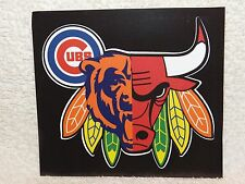 Custom Window Decal Sticker - Chicago Bears, Blackhawks, Bulls, Cubs