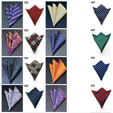 Hot Men Pocket Square Handkerchief Satin Solid Floral Paisley Floral Hanky Party