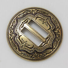 1-1/4'' Western Slotted 2-Tone Conchos Brass for Leathercraft Saddle Tack Belt