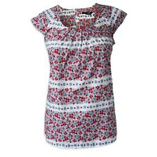 New Ladies Dorothy Perkins Floral Button Back Top Tunic 7 Pleat 8-20 Pleated