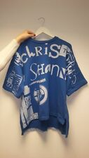 Christopher Shannon Brand T-Shirt, Blue/ White, 100% Cotton