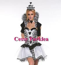 Black & White Chess Queen Alice in Wonderland Queen of Heart Costume