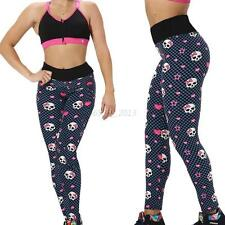 Fashion Womens Leggings Yoga Running Sports Workout Fitness Gym Athletic Pants