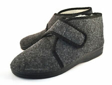 Mens Women Touch Fastener Slippers Shoes Boots Wool Sheepskin size 6 7 8 9 10 11