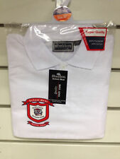 Boys Girls Unisex School Polo Shirt White 3-15 Years