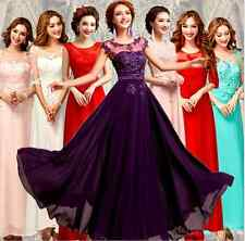 New Beautiful Chiffon Long Evening Bridesmaid Party Formal  Prom Dress Gown