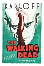 The Walking Dead Movie POSTER (1936) Black and white/Horror