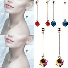 Fashion Crystal Drop Long Big Multicolor Pop Charm Stones Jewelry Hot Earrings