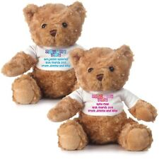 Personalised Naming Day Teddy bear in pink or blue - Naming day gifts