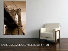 Canvas Print Picture New York Brooklyn Bridge / Stretched  ready to hang