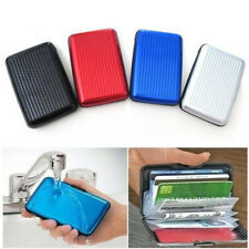 Mens Womens Business Credit Card Box Case Name Id Card Holder Wallet Bag US Ship