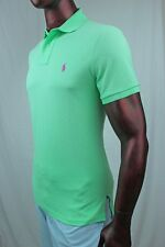 "POLO Ralph Lauren Mesh Custom Fit Polo  ""Tyler Green"" Pink POLO Pony ~NWT~"