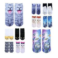 Animal 3D Fashion Printed Hot Ankle Socks Women Cute Cat Casual Socks New