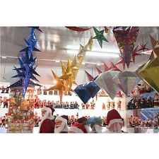 Bright-colored Glossy Paper Star Christmas Wedding Showcase Party Festival Decor
