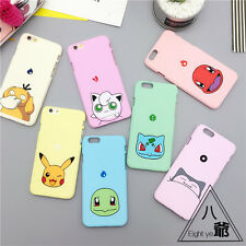 Cute Pokemon Pikachu Matte TPU Frame Back Cover Case for iPhone 5/5S/6/6S Plus