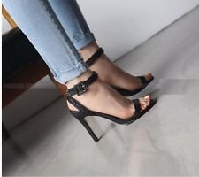 Size 4-8 Lady Ankle Strap Womens Sandals Stilettos High Heels Buckle Party Shoes