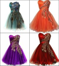 Plus Size Evening Dress Party Prom Gown Homecoming Peacock Cocktail Dresses