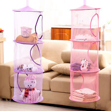 Hot 3 Shelf Hanging Storage Net Kids Toy Organizer Bag Wall Door Closets new