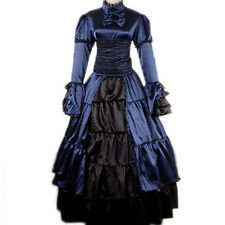 Victorian Gothic Prom Party Lolita Dress Belle Gown Reenactment Theater Cosplay