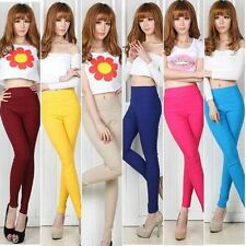 Hot Summer Women's High Waist Slim Trousers Stretch Skinny Leggings Pencil Pants