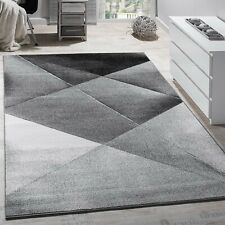 Modern Large Rug Grey Silver Black Carpet Living Room Art Design Mat Hall Runner