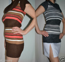 Women Long Jumper Knitted Cowl Neck Short Sleeve RRP 24 Size 6 to 14