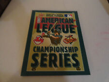 1997 AMERICAN LEAGUE CHANPIONSHIP SERIES PROGRAM - INDIANS - ORIOLES  - EC