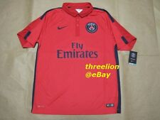 BNWT Nike 2014/15 PARIS ST GERMAIN PSG Third Red Soccer Jersey Football Shirt