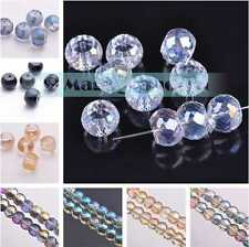 10/50pcs 12x9mm Glass Crystal Jewelry Findings Faceted Loose Spacer Beads Craft