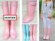 Rare Hunter Glossy Baby Powder Pink Rubber Rain Boots New Jaw Dropping Gorgeous!