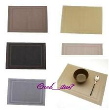 1PCS Home Dining Room Table Placemats PVC Heat Insulation Stain-resistant Mat G