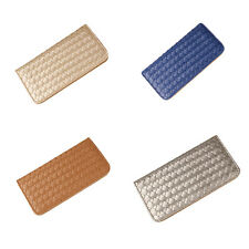 Women PU Leather Wallet Coin Purse Clutch Lady Card Holder Weave Bag CCC