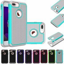 Hybrid Shockproof 2 in1 Silicone Rubber Cover Case For Apple iPhone 7 / 7 Plus