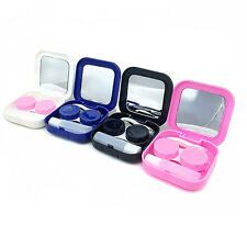 Portable Contact Lens Case Container Travel Kit Set Holder Mirror Box Glitzy