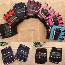 Mens Bicycle Cycling Half Finger Gloves Gel Pad Fingerless Gloves Comfortable 44