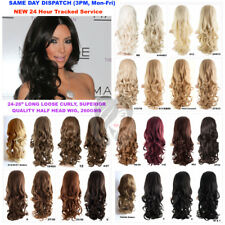 25% OFF KoKo 24-26 Long Loose Curly Half Head Wig Fall 3/4 Weave Hair Piece (G3)