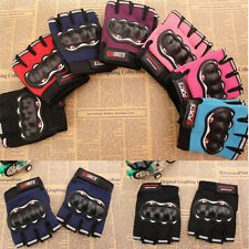 Mens Bicycle Cycling Half Finger Gloves Gel Pad Fingerless Gloves Hot 44