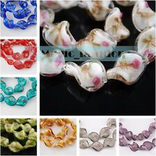 Hot 10/50pcs 20x17mm Lampwork Glass Crystal Jewelry Findings Loose Spacer Beads