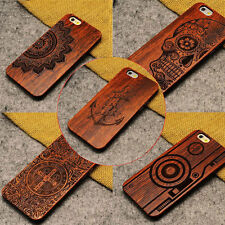 Luxury Natural Carved Wood Wooden Pattern Hard Case Back Cover For iPhone 7 Plus
