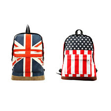 Flag Union Style Backpack Shoulder School Bag BackPack Canvas