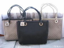 OROTON SIGNATURE ESSENTIALS LARGE LEATHER TOTE HAND BAG 5 COLOURS BLACK CHOC